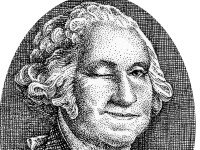 Smiling Winking George Washington Drawing